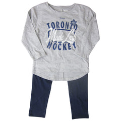 Toronto Maple Leafs Reebok Girls Hockey Sweetheart L/S Pant Set - shop.realsports - 1