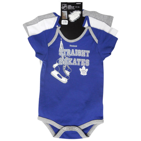 Toronto Maple Leafs Reebok Infant 'Hat Trick' 3Piece Body Suit Set