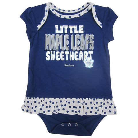 Toronto Maple Leafs Reebok Infant Girls 'Little Sweet' Creeper Bib and Bootie Set