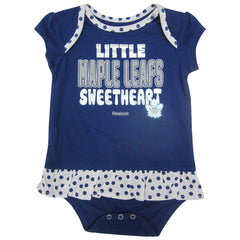 Toronto Maple Leafs Reebok Infant Girls 'Little Sweet' Creeper Bib and Bootie Set - shop.realsports - 1