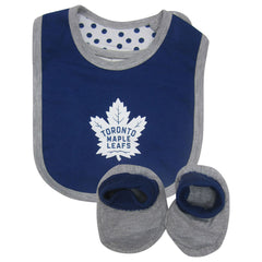 Toronto Maple Leafs Reebok Infant Girls 'Little Sweet' Creeper Bib and Bootie Set - shop.realsports - 2