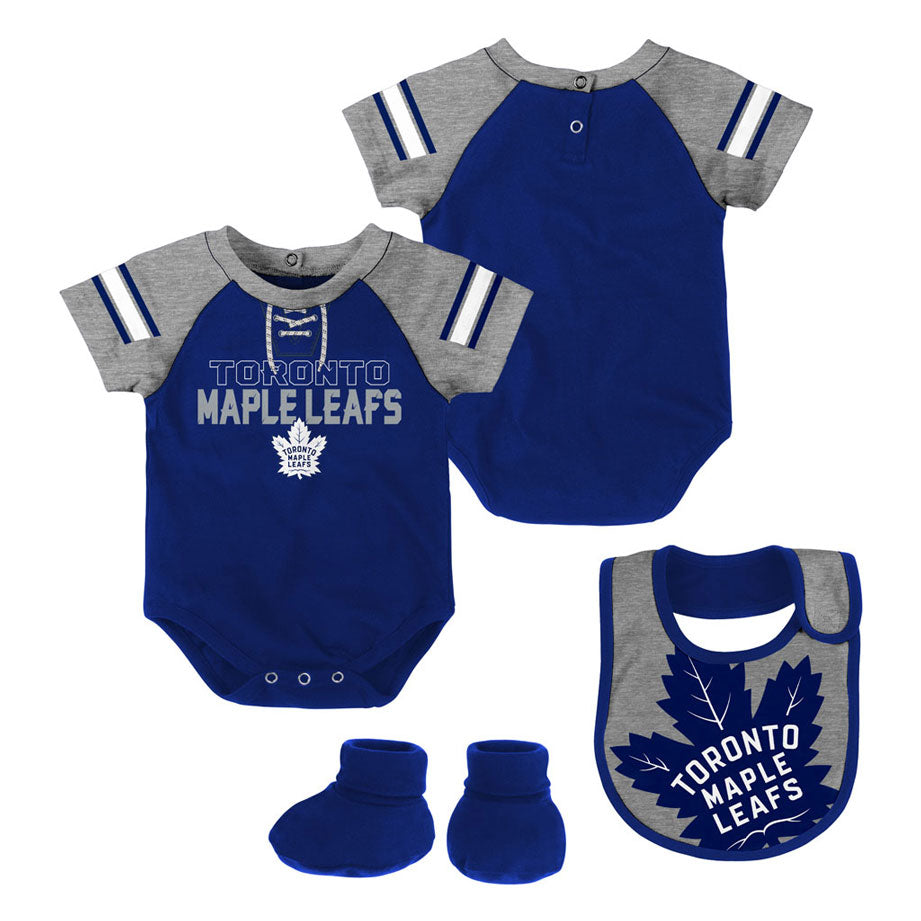 52736bd29 Toronto Maple Leafs Newborn Little D Man Creeper