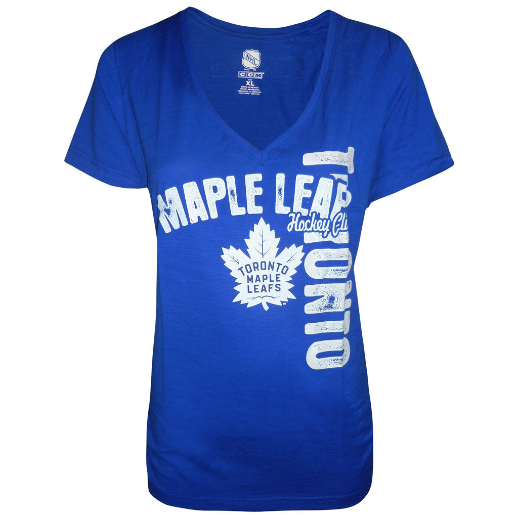 Toronto Maple Leafs CCM Ladies New Pearl Layers Slub S/S Tee - shop.realsports