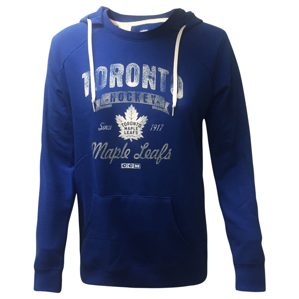 Toronto Maple Leafs CCM Ladies New Soft and Faded Crewdie - shop.realsports