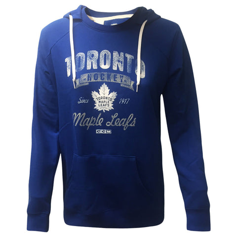 Toronto Maple Leafs CCM Ladies New Soft and Faded Crewdie