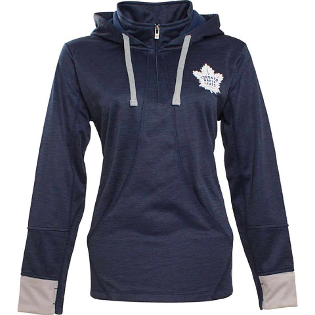 Toronto Maple Leafs Old Time Hockey Ladies Annabelle Fleece 1/4 Zip - shop.realsports