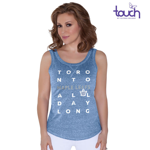 Toronto Maple Leafs Touch Ladies Tri-Blend Tank Top