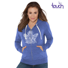 Toronto Maple Leafs Ladies Nubby Triblend Full Zip Sweater