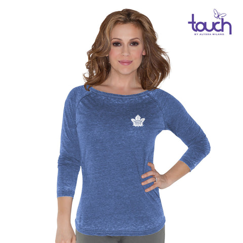 Maple Leafs Touch Ladies Boat Neck Raglan