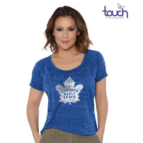 Toronto Maple Leafs Ladies Outfielder Short Sleeve Shirt