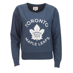 Toronto Maple Leafs Red Jacket Ladies Adeline Wide Neck Crew Sweater