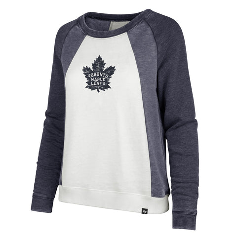 Maple Leafs 47 Brand Ladies Fadeout Block Crew Sweater