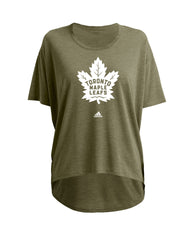 Maple Leafs Adidas Ladies Camo Tee