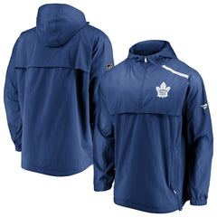 Maple Leafs Men's Authentic Pro Rinkside Anorak 1/4 Zip Jacket
