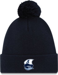 Argos New Era Men's Double Blue Boat Logo Cuffed Pom Toque