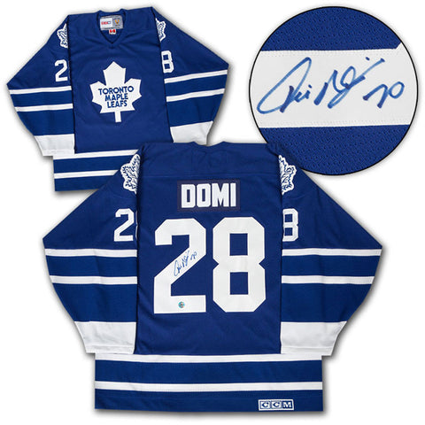 Tie Domi Signed Leafs Jersey