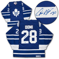 Domi Signed Leafs Jersey