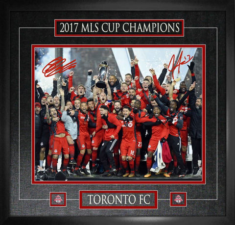 Toronto FC Giovinco and Altidore Duo Signed 16x20 2017 MLS Champion Photo Framed
