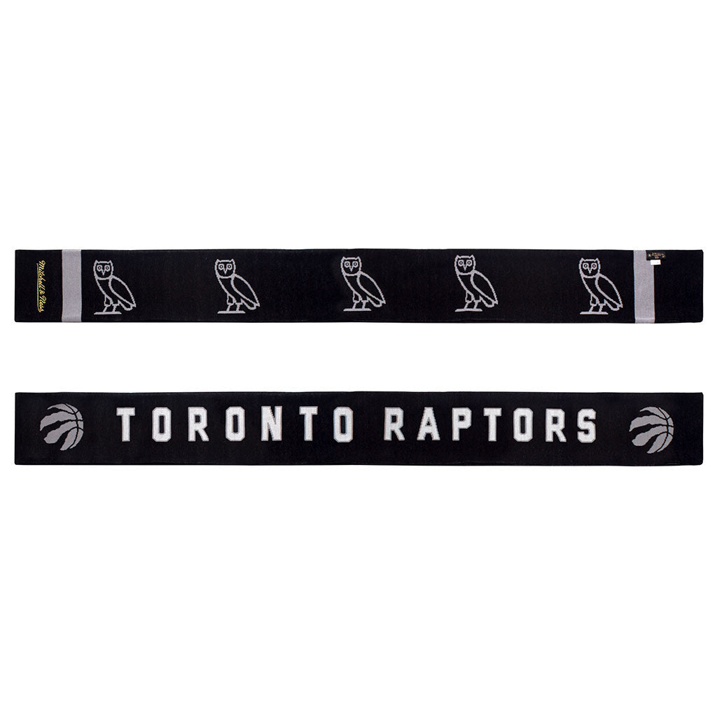 Toronto Raptors OVO Mitchell & Ness Jacquarded Knit Scarf - shop.realsports - 2