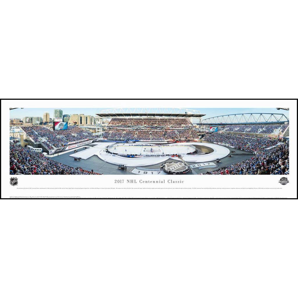 Toronto Maple Leafs Centennial Classic Event Panoramic Plaque - shop.realsports