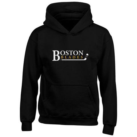 Boston Blades Youth Black Pullover Hoody