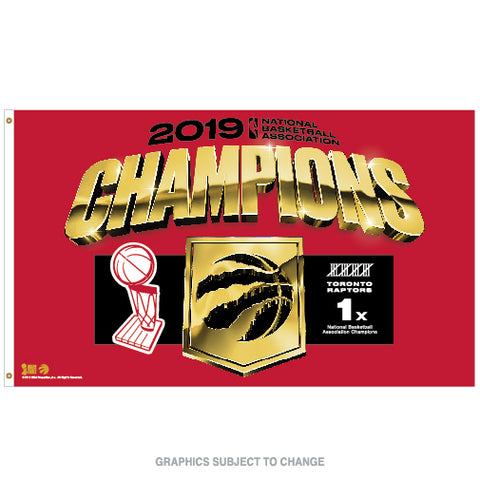 Raptors 2019 NBA Champs 3' x 5' Flag