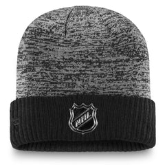 Maple Leafs Men's Authentic Pro Black Ice Cuffed Beanie