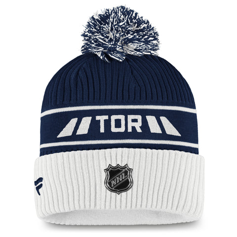 Maple Leafs Men's Authentic Pro Locker Room Cuffed Pom Toque