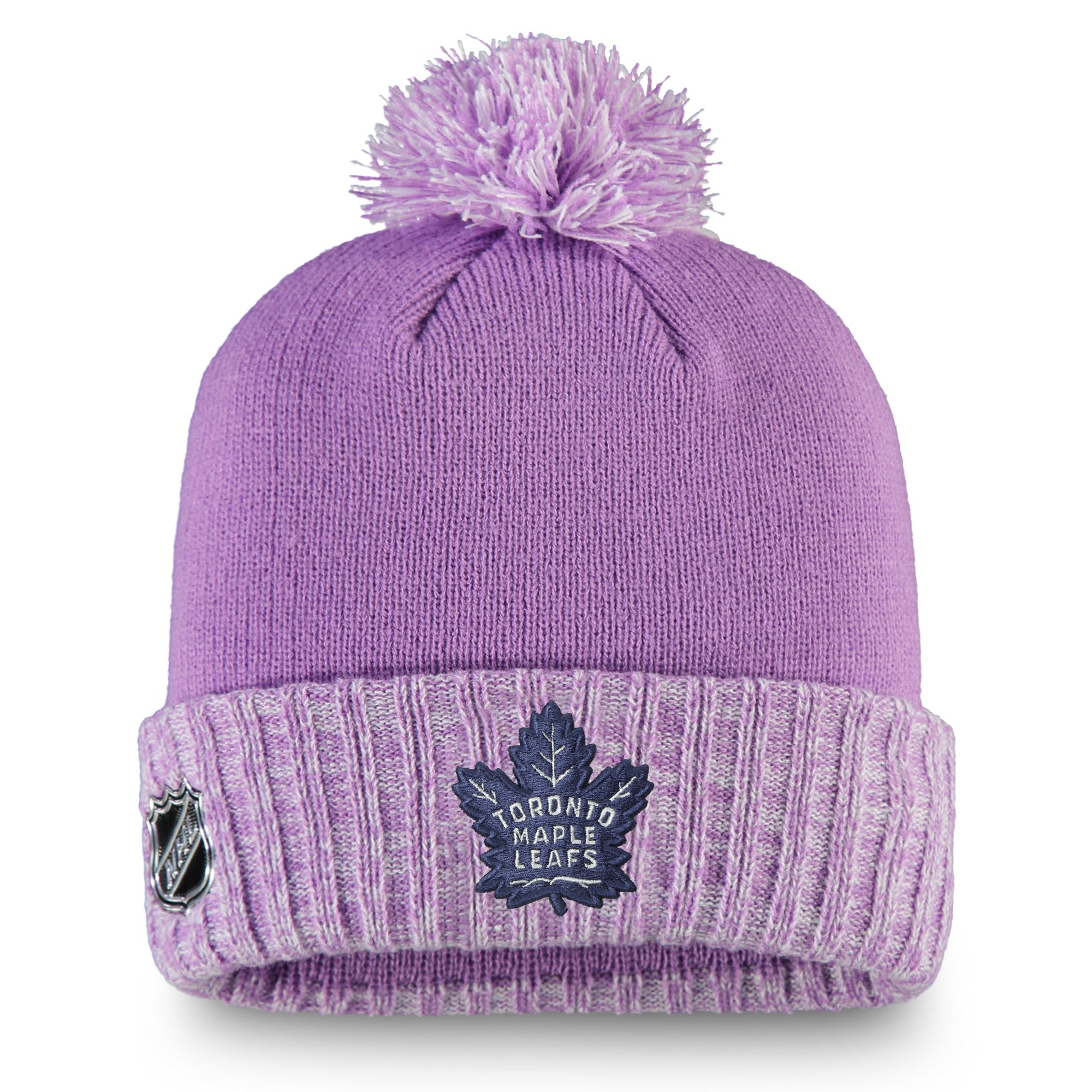 Maple Leafs Authentic Pro Hockey Fights Cancer Cuffed Knit Pom Toque