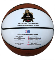 Raptors 2019 NBA Champs Autograph Panel Ball