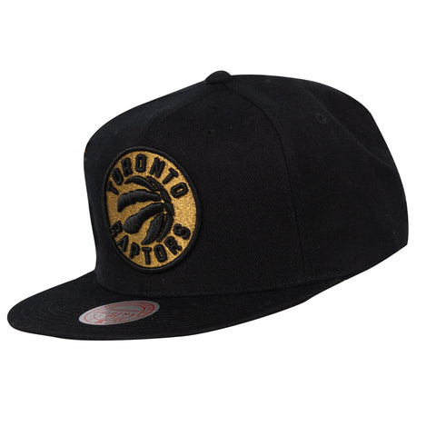 Raptors Mitchell & Ness Men's Team Gold Snapback