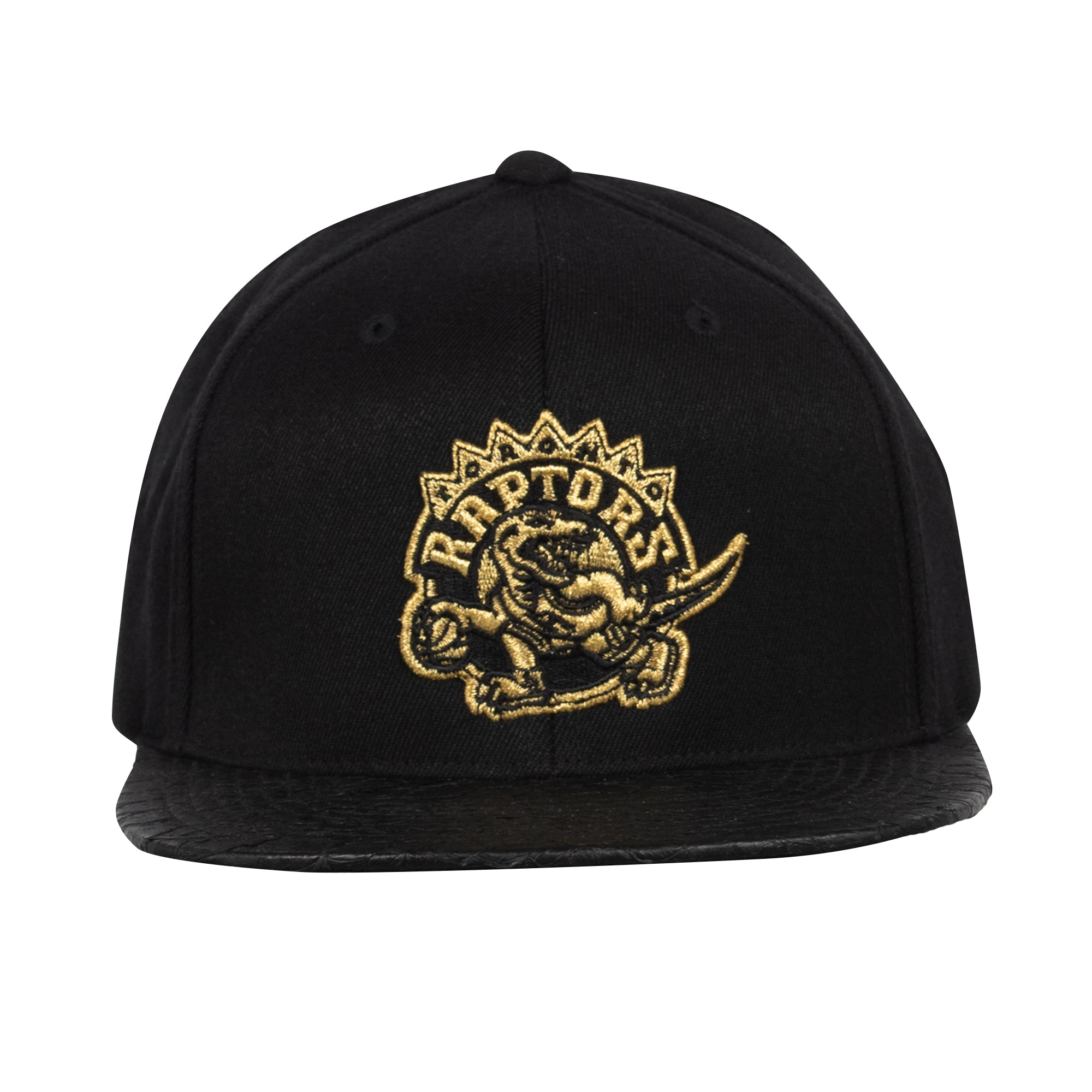 Raptors Mitchell & Ness Men's HWC Top Boss Leather Brim Snapback