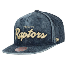 Raptors Mitchell & Ness Men's Denim Block Wordmark Snapback
