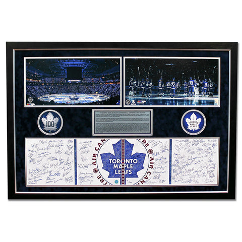 Leafs Frame Signed by 100