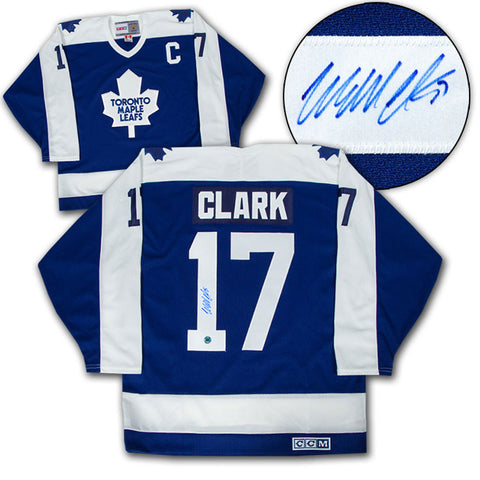 Clark Signed Leafs Jersey