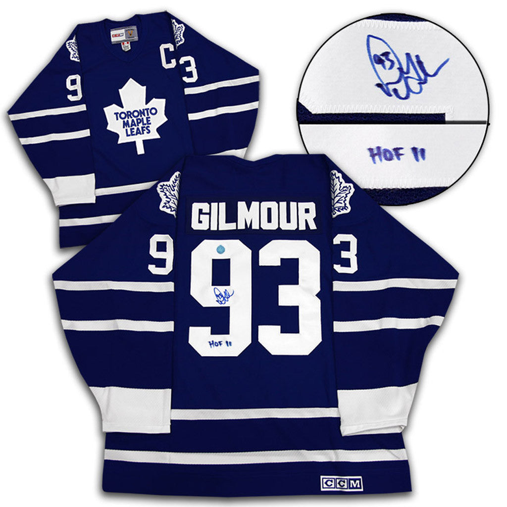Doug Gilmour Signed Leafs Jersey
