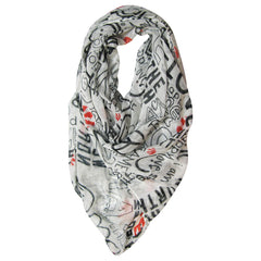 Toronto Raptors Peace Love World Viscose 'We the North' Fashion Scarf - shop.realsports - 1