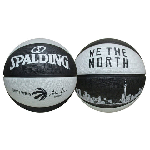 Toronto Raptors Spalding Size 7 'We the North' Skyline Ball