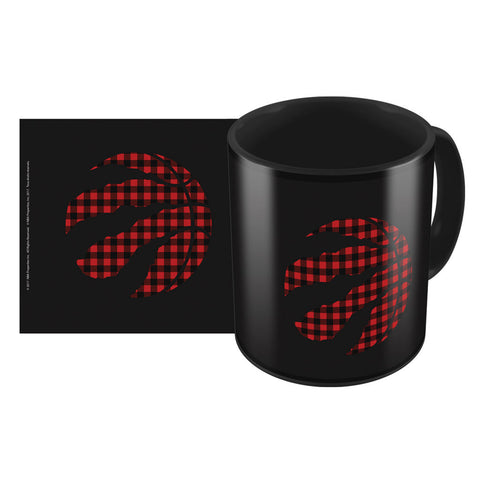 Toronto Raptors Part Buffalo Plaid 11oz. Black Coffee Mug