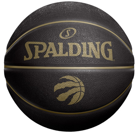 Toronto Raptors Spalding Size 3 OVO City Edition Black/Gold Partial Logo Ball