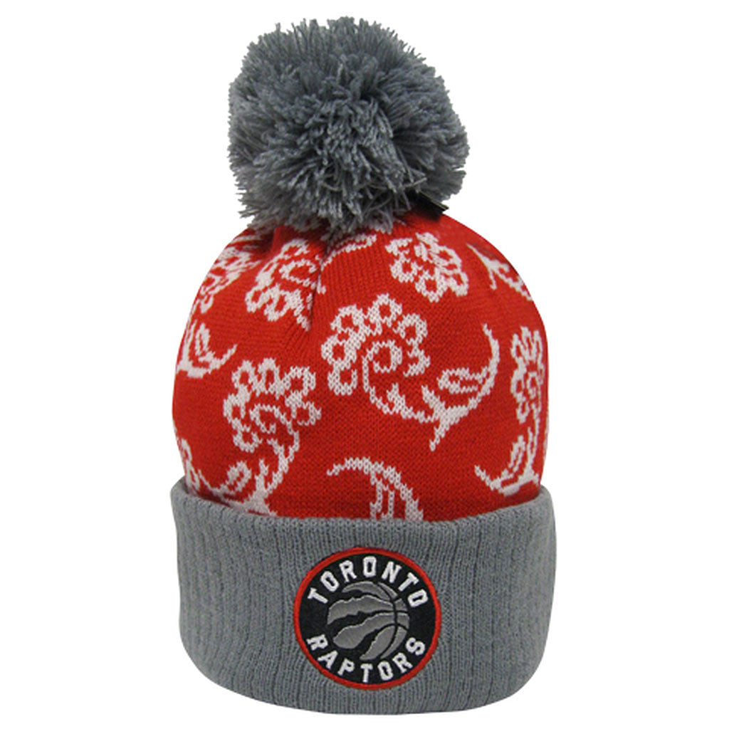 Toronto Raptors Adidas Youth Girls Primary Logo Cuffed Knit Toque - shop.realsports