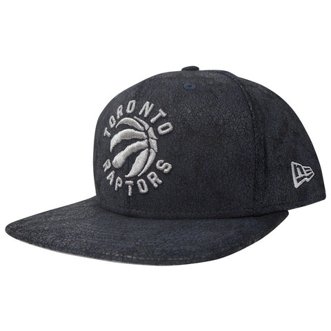 Toronto Raptors New Era Men's Faux Leather Cracked Shine Snapback