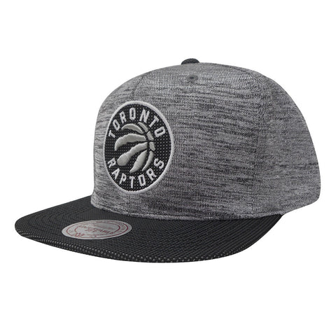 Toronto Raptors Mitchell & Ness Men's Space Knit Crown PU Visor Snapback Grey/Black