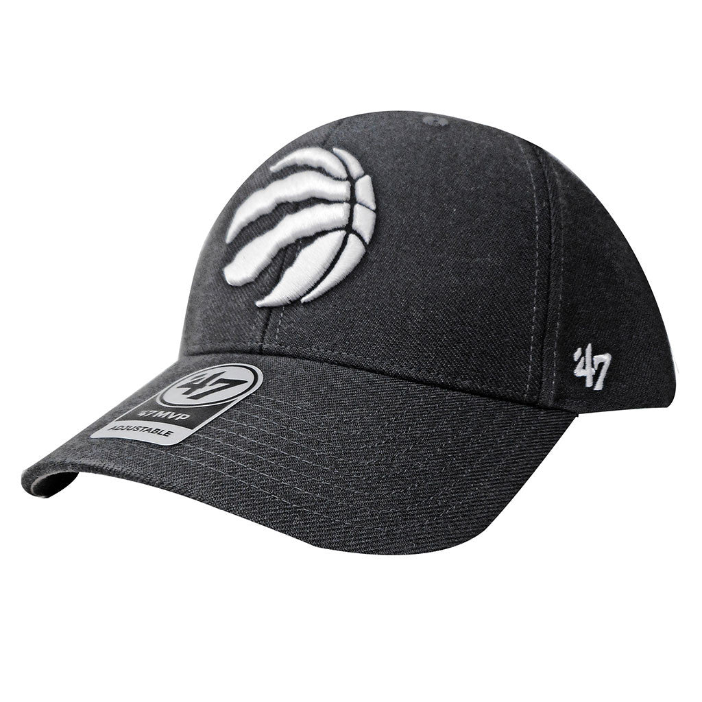 Toronto Raptors '47 Brand Men's MVP Structured Adjustable Hat - Charcoal