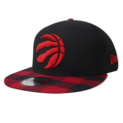 Toronto Raptors New Era Men's Buffalo Plaid Black Snapback