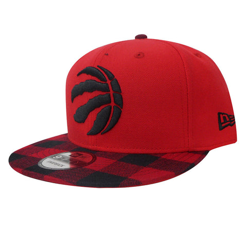 Toronto Raptors New Era Mens Buffalo Plaid Red Snapback