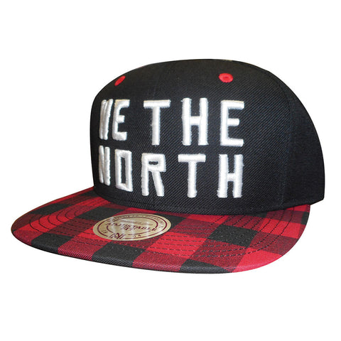 "Toronto Raptors Mitchell & Ness Men's Buffalo Plaid ""We the North"" Snapback"