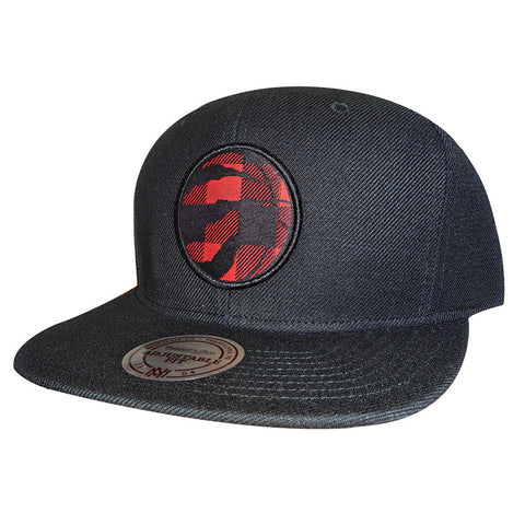 Toronto Raptors Mitchell & Ness Men's Buffalo Plaid Snapback Hat
