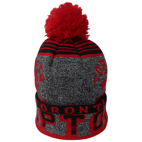 Toronto Raptors Youth Jacquard Cuffed Pom Toque