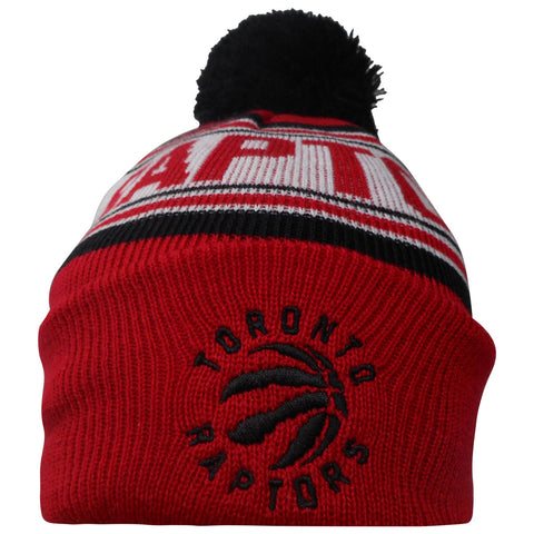 Toronto Raptors Child Jacquard Cuffed Pom Toque